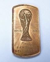 1982-es labdarúgó vb. Olasz csapat emlékérem.