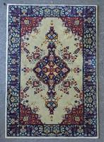 0V242 Régi kék bordó összekötő szőnyeg 100x151 cm