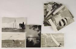 0V474 Retro Üdvözlet a Balatonról képeslap 11 db