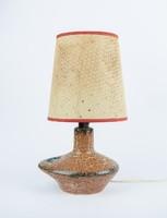 Kerámia iparművész KTSZ matricás retro lámpa