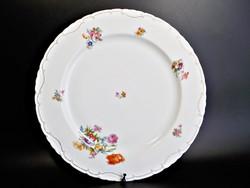 Régi Cseh virágos porcelán asztalközép , kínáló , nagy méret