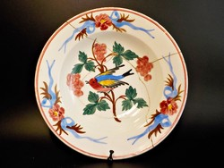 Antik Hollóházi madaras népi falitányér