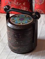 Muzeális, kínai esküvői lakk doboz!