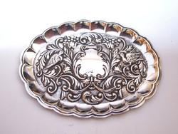 Spanyol ezüst gyűrűtartó tálka,gravírozható.