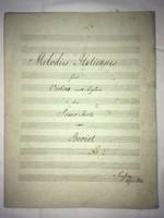 /1840/. Melodies Italiennes für Violin mit begleit. des Piano Forte von Beriot N=2. Profztm pio 1840