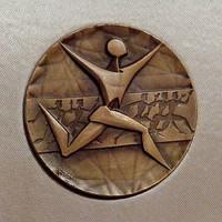 Vincze Dénes 1965-ös bronz plakett