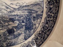 Porcelán falitányér - JELZETT -  Bécsi - részletgazdag - nagy - 26 cm - hibátlan