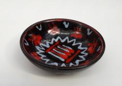 Hamutál absztrakt mintákkal - retro iparművész kerámia