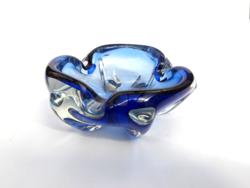 Gyönyörű cseh üveg hamutál - bohemian glass - Josef Hospodka Chribska huta 1970s'
