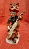 UNTERWEISSBACH porcelán zenélő figura