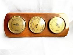 Keletnémet FISCHER barométer, páramérő, hőmérséklet mérő 3 az 1-ben