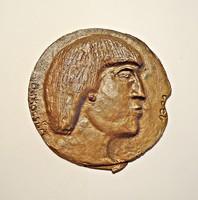 Jelzett bronz plakett