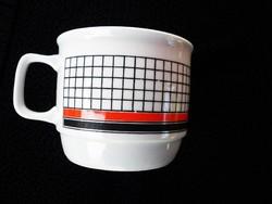 Zsolnay retró kockás csésze