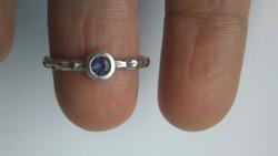 Tanzanit 925gyűrű(6,5)
