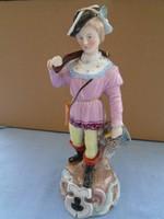 Antik Rudolstadt Ernst Bohne Sohne figura Porcelán a legelsők  közül ca 200 éves