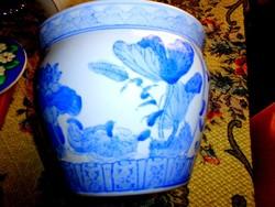 Antik nagyméretű kínai  porcelán kaspó