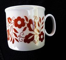 Zsolnay retró bordó virágos csésze