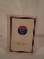 VASAS SPORT CLUB minikönyv - 1911 - 1976 ig - fotókkal - büszkeségeikkel 6 x 4,5 x 1,5 cm