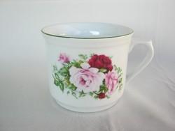 Rózsás porcelán nagy bögre