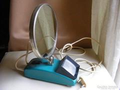 Retro orosz kozmetikai smink tükör lámpával