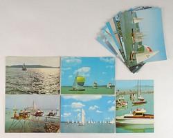 0V476 Retro Üdvözlet a Balatonról képeslap 14 db