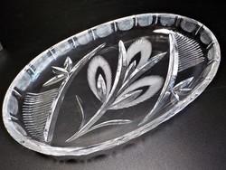Csiszolt kristály  kínáló , asztalközép