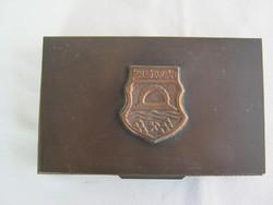 Lignifer kézműves fém doboz díszdoboz - Salgótarján
