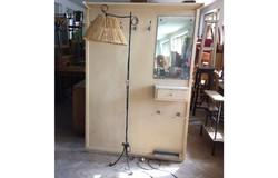 Régi retro kovácsoltvas lámpa vas állólámpa