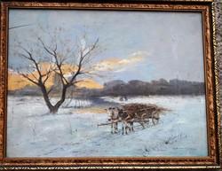 Németh Béla Bertalan -Csacsifogat Télen