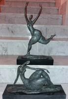 Monumentális art deco - bronz szobrok