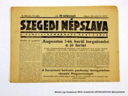 1946 május 24  /  SZEGEDI NÉPSZAVA  /  Régi ÚJSÁGOK KÉPREGÉNYEK MAGAZINOK Szs.:  8983