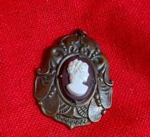 Robbins Attleboro vintage kámea medál (1920-30)