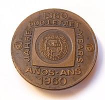 1360-1960, 600 years ...Adams Thaller jelvény/embléma.