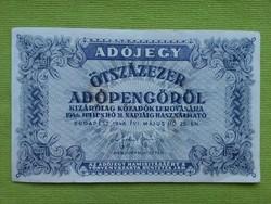 Adójegy ötszázezer adópengőről 1946/id 2625/