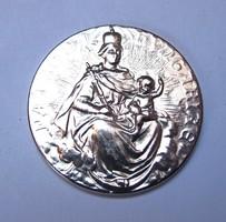 """Sanctus Emericus / Patrona Hungariae"" ezüstözött medál."
