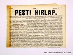 1847 augusztus 20  /  Pesti Hirlap 1. Kiadás  /  Régi ÚJSÁGOK KÉPREGÉNYEK MAGAZINOK Szs.:  8688