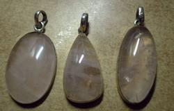 925 ezüst medálok rózsakvarc drágakővel