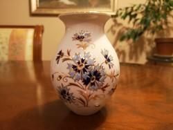 Zsolnay búzavirágos váza hibátlan, új