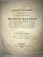 /1839/Kopácsy József Esztergomi Herczegprímás//Beavatási ünnepségére készült beszéd!!1839. Budae