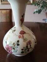 Zsolnay pillangós váza, régi, máztöredezett