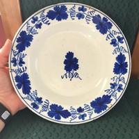Apátfalvi , Bélapátfalvi népi festett tányér . Kézi szőllőlevél festéssel