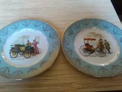 Angol porcelán nagyméretű dísz tányérok