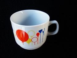 Zsolnay retró lufis csésze 14.