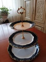 Zsolnay Pompadur háromrészes kínáló gyönyörű, hibátlan állapotban