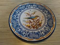 Madaras kerámia dísz tányér