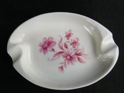 Drasche porcelán rózsaszín virágos hamutartó hamutál