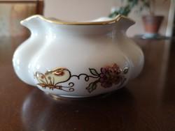 Zsolnay pillangós fodros szélű tálka/kaspó/váza, hibátlan, új
