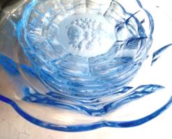 Kék üveg gyümölcsös kompótos készlet 5+1db