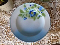Bonyhádi zománcos gyönyörű tányér