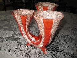 Gorka   három ágú  váza